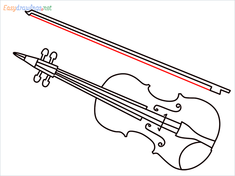 How to draw a Violin step (11)