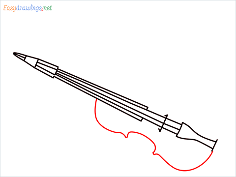 How to draw a Violin step (6)
