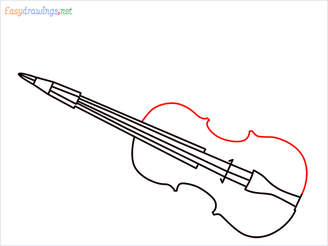 How to draw a Violin step (7)