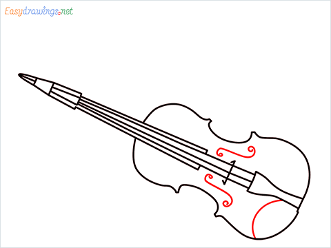 How to draw a Violin step (8)