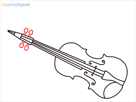 How to draw a Violin step (9)