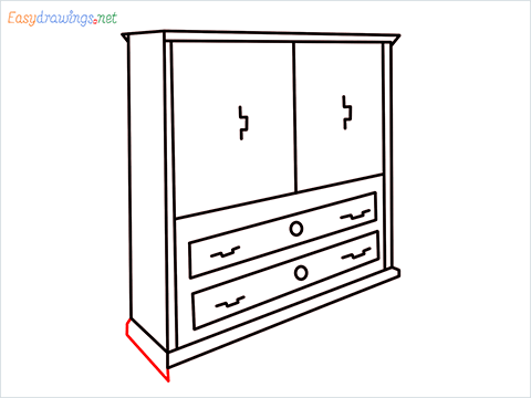 How to draw a Wardrobe step (10)