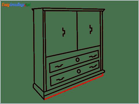 How to draw a Wardrobe step (11)