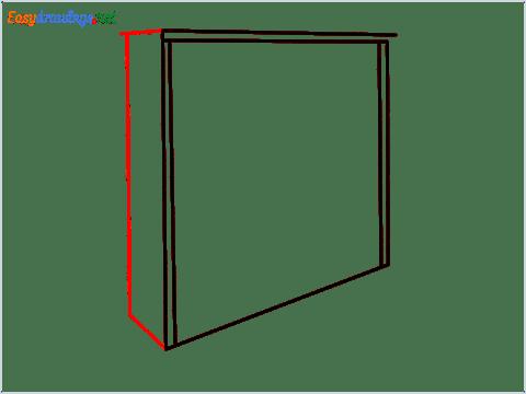 How to draw a Wardrobe step (4)