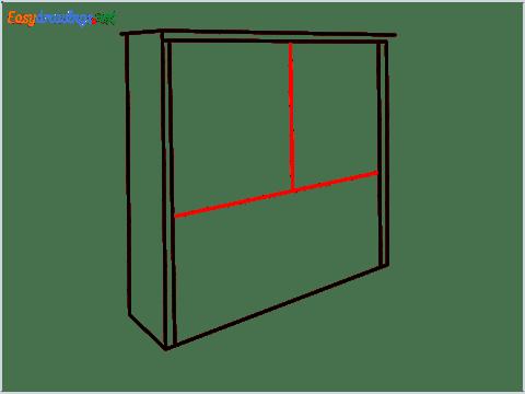 How to draw a Wardrobe step (5)