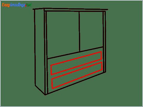 How to draw a Wardrobe step (6)
