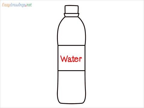 How to draw a Water bottle step (6)