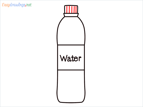 How to draw a Water bottle step (7)