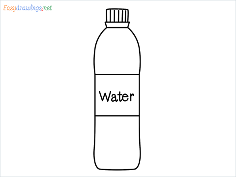 How to draw a Water bottle step by step for beginners