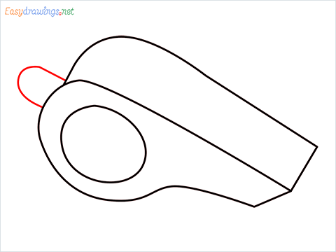 How to draw a Whistle step (4)