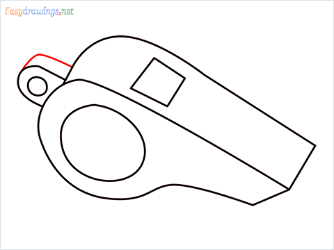 How to draw a Whistle step (6)