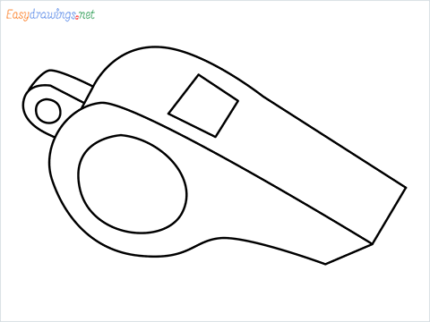 How to draw a Whistle step by step for beginnersh