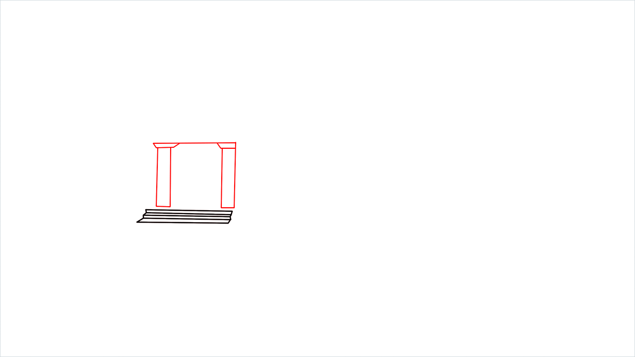 How to draw a luxury Mansion step (2)