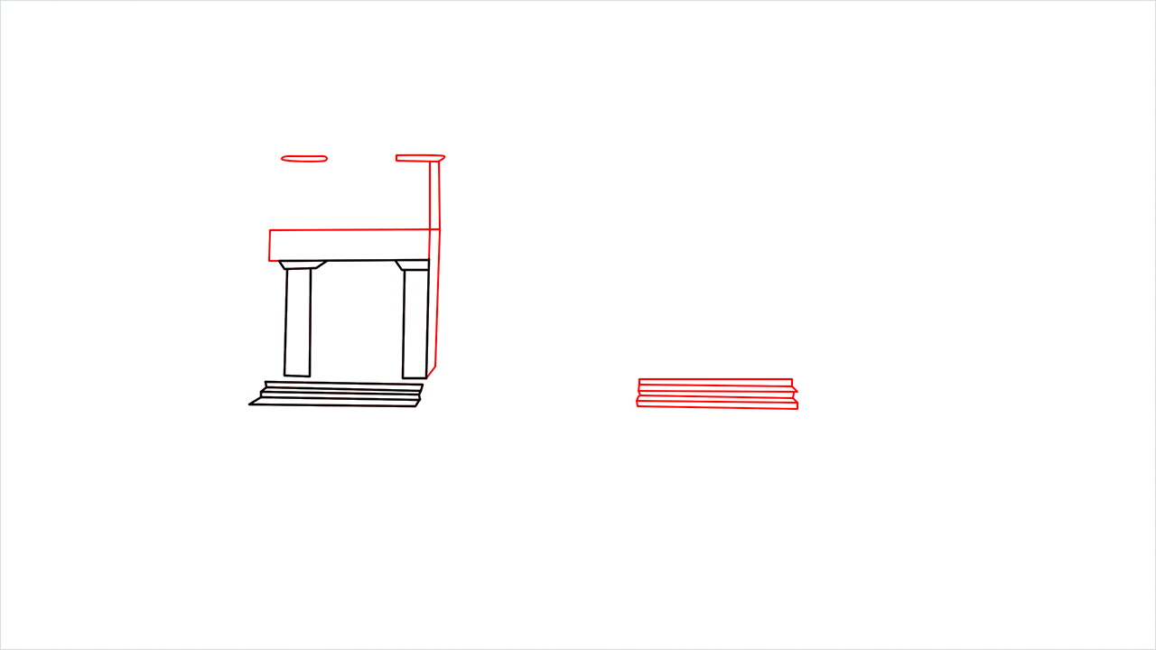 How to draw a luxury Mansion step (3)