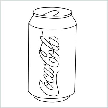 draw Coca Cola
