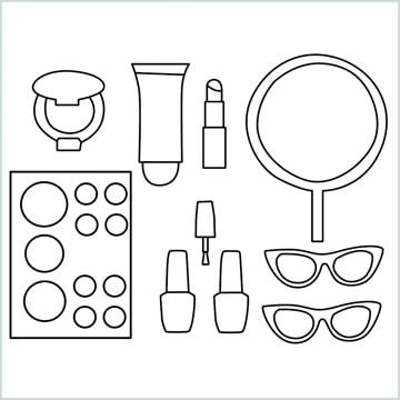 draw a Makeup kit