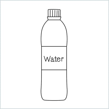 draw a Water bottle