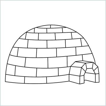 draw a igloo