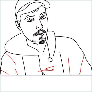 draw mrbeast