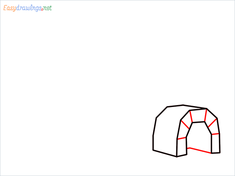 how to draw a igloo step (4)
