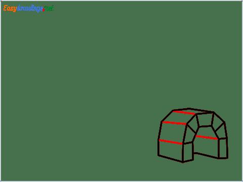 how to draw a igloo step (5)