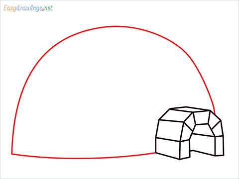 how to draw a igloo step (6)