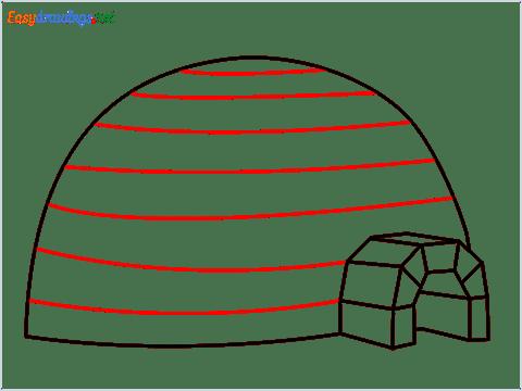 how to draw a igloo step (7)