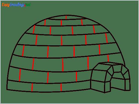 how to draw a igloo step (8)