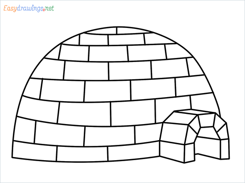how to draw a igloo step by step for beginners