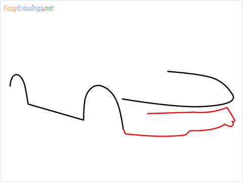 how to draw a lamborghini Asterion step (3)