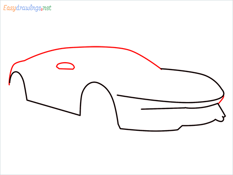 how to draw a lamborghini Asterion step (4)