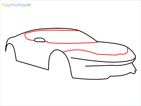 how to draw a lamborghini Asterion step (5)