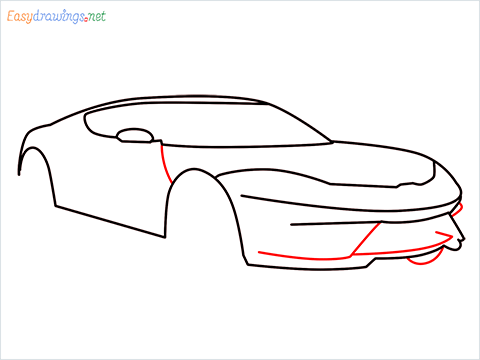 how to draw a lamborghini Asterion step (6)