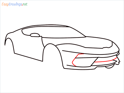 how to draw a lamborghini Asterion step (7)