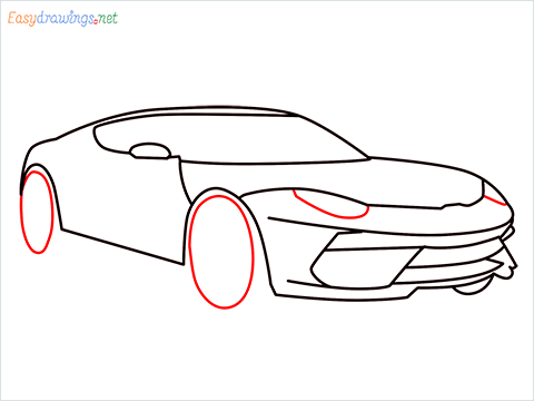 how to draw a lamborghini Asterion step (8)