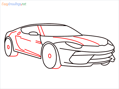 how to draw a lamborghini Asterion step (9)