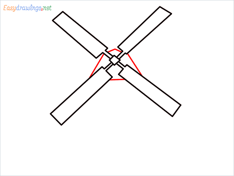 how to draw a windmill step (4)