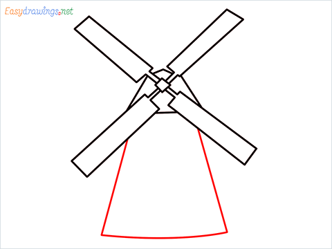 how to draw a windmill step (5)