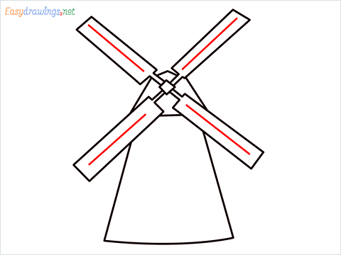how to draw a windmill step (6)