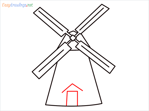 how to draw a windmill step (7)