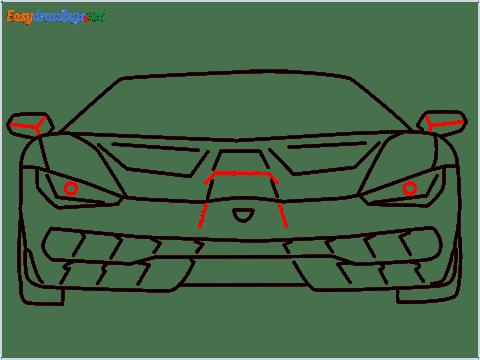 how to draw lamborghini centenario step (10)