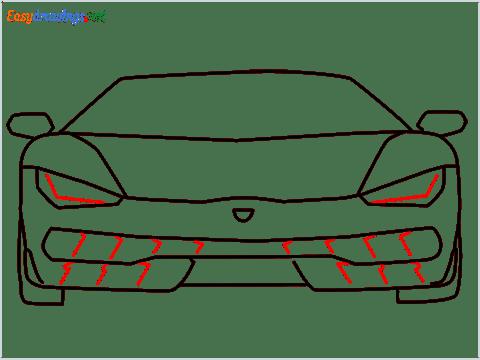 how to draw lamborghini centenario step (8)