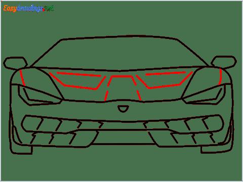 how to draw lamborghini centenario step (9)