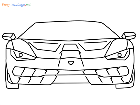 how to draw lamborghini centenario step by step for beginners