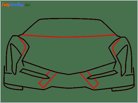 how to draw lamborghini veneno step (5)