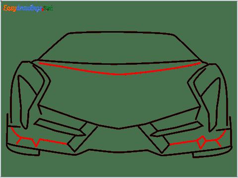 how to draw lamborghini veneno step (6)