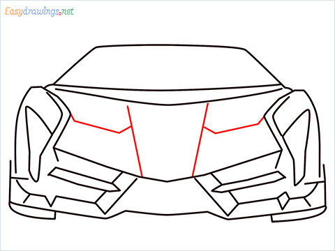 how to draw lamborghini veneno step (7)