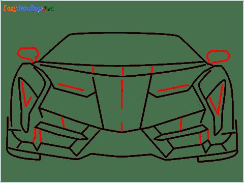 how to draw lamborghini veneno step (8)