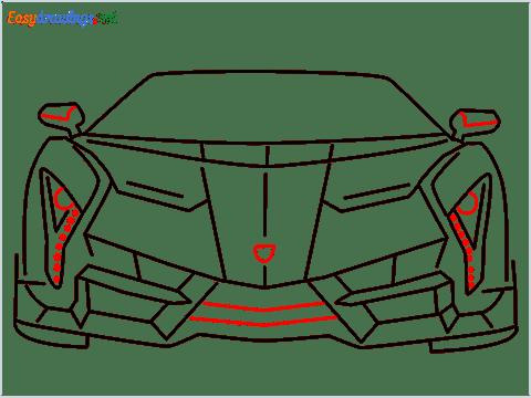 how to draw lamborghini veneno step (9)