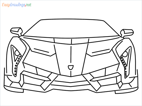 how to draw lamborghini veneno step by step for beginners